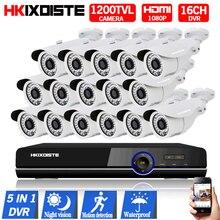 HD 1200TVL CCTV Camera  Security Camera Waterproof  IR-CUT Surveillance Camera 16CH AHD 1080P DVR Video Recorder Multilanguage