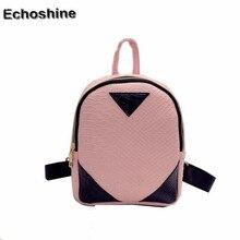 2016 hot sale high quality Women Canvas Rucksack concise Serpentine Backpack School Book Shoulder Bag mochila feminine