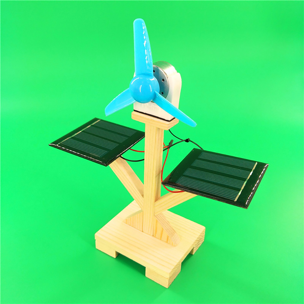 New DIY Solar Fan Model Building Material Kits Hybrid Drive Science Experiment Discovery Toys Creative Educational