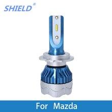 2 Pcs Car LED Headlight Kit H4 H7 led 9006 9005 H1 H3 12000LM CSP Chips For Mazda CX 5/E2200D/B4000/Tribute/Navajo/Protege/Miata led 2015 2018 mazd 2 daytime light mazd 2 fog light mazd 2 headlight tribute rx 7 rx 8 protege mx 3 miata cx 3 mazd 2 head lamp