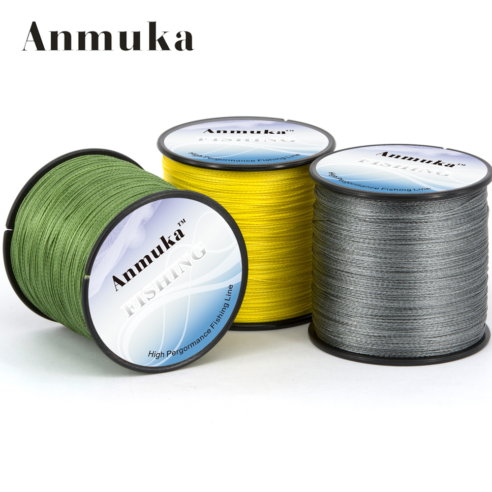 Anmnka 300meters 4x braided fishing line 8lb 10lb 20lb for 20 lb braided fishing line