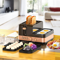 2 Toaster oven bread toaster sandwich maker circuito electronico timer defrost breakfast sandwich maker 2 3 slices 220 240v