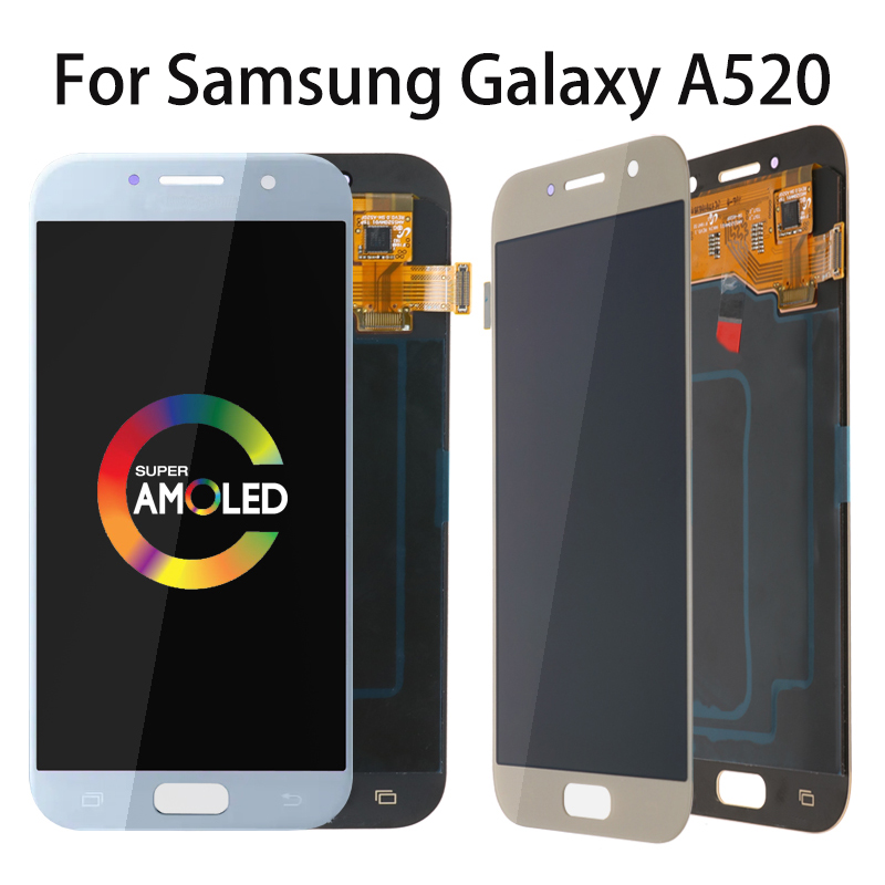 5.2 Super AMOLED LCD for SAMSUNG Galaxy A5 2017 Display Touch Screen Digitizer A520 A520F SM-A520F Replacement Parts5.2 Super AMOLED LCD for SAMSUNG Galaxy A5 2017 Display Touch Screen Digitizer A520 A520F SM-A520F Replacement Parts