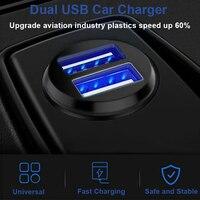5 v 3.1a usb 12v carregador adaptador de energia do carro 2 portas para o telefone móvel carregamento do carro isqueiro tomada usb veículo automático|Adaptador de energia| |  -
