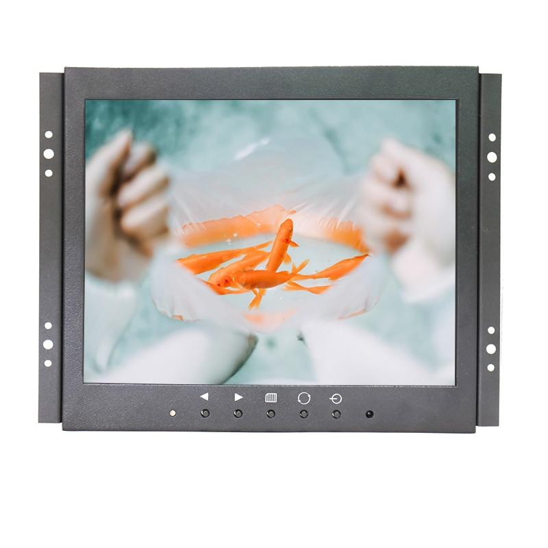 1024*768 9.7 inch open frame industrial monitor lcd with VGA/AV/BNC/HDMI security LCD monitor zk080tn lr 8 inch 1024x768 bnc vga hdmi metal case open embedded frame industrial medical equipment monitor lcd screen display