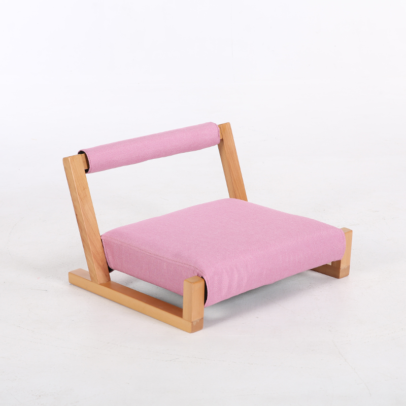 Wood Floor Japanese Zaisu Meditation Chair with Back Support Asia Japan Traditional Tatami Floor Legless Chair Seating Cushions in Living Room Chairs from Furniture