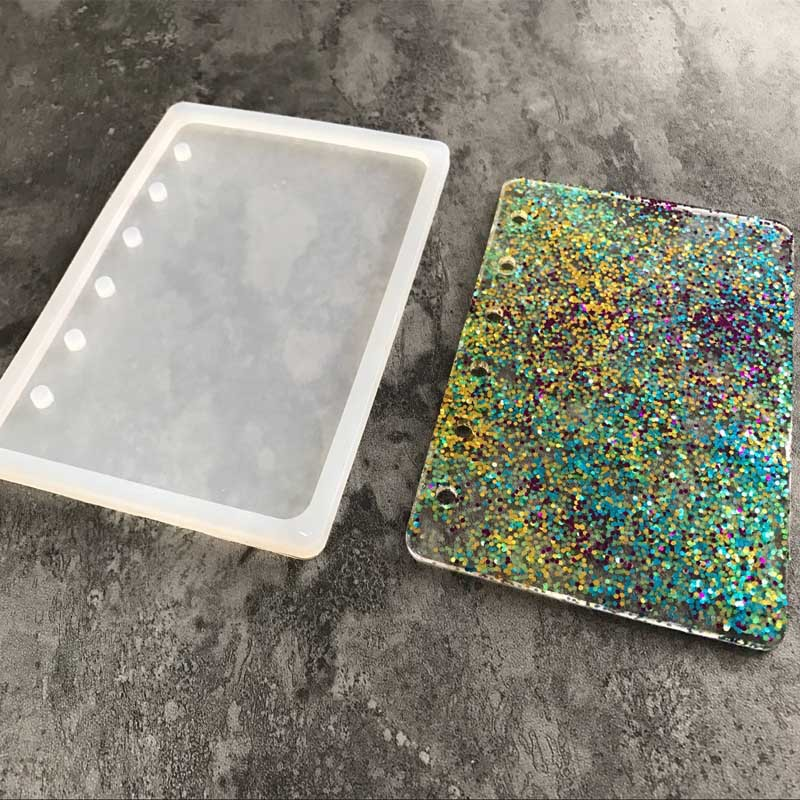 Notebook Shape Silicone Mold DIY Resin Book Mold Crystal Epoxy Silicome Mold Transparent Book Silicone Mold h128