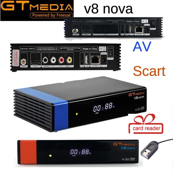 Gtmedia V8 NOVA 3 шт. же как V9 супер DVB S2 спутниковый ресивер встроенная поддержка Wi-Fi H.265 AVS лучше, чем V8 супер