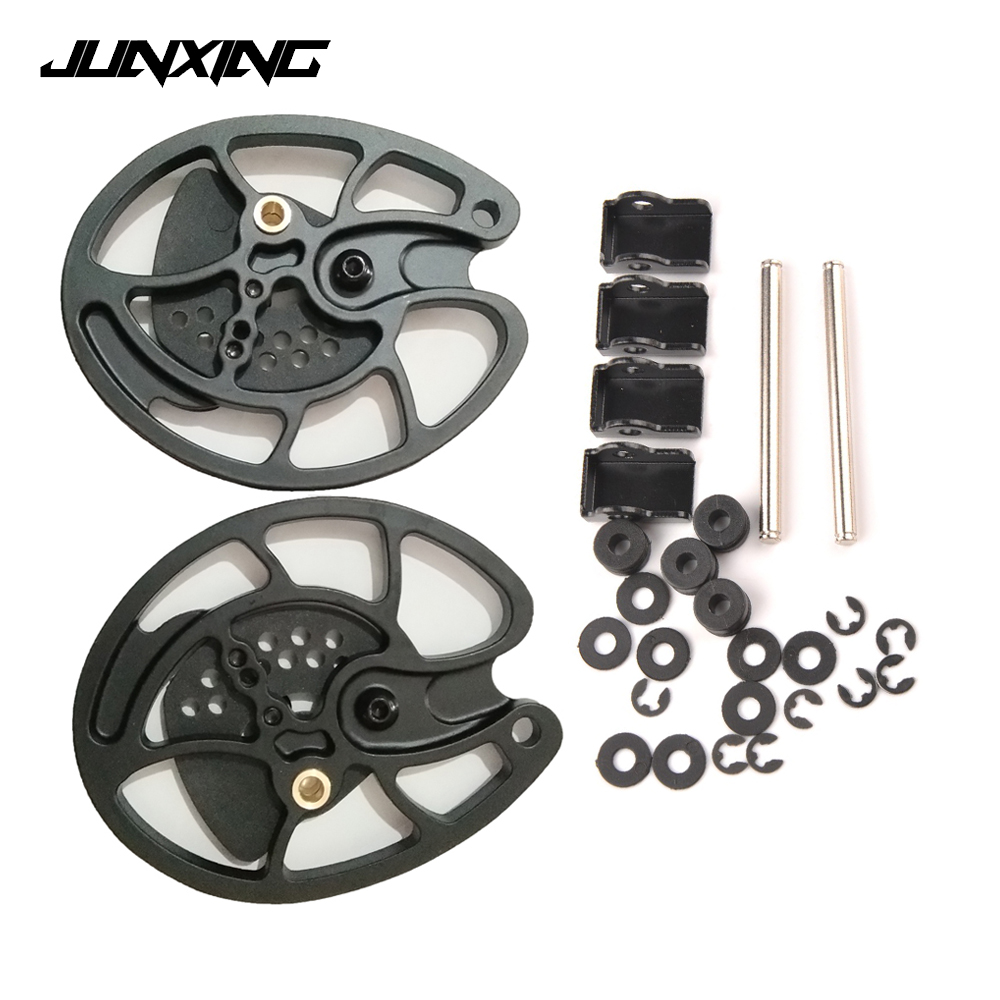 2 Pcs Compound Bow Pulley In Black For 30-40 LBS Compound Bow Outdoor Hunting Shooting Fishing