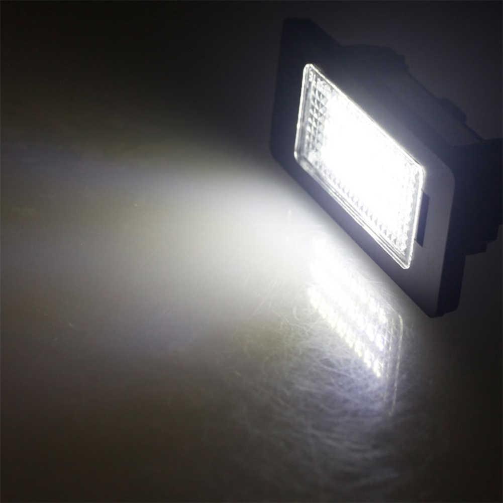 2 uds Error Free LED Luz de matrícula de coche estilo Fit para BMW E39 E60 E70 E71 x5 X6 E60 M5 E90 E92 E93 M3 accesorios de coche