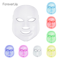 Foreverlily Beauty Photon LED Facial Mask Therapy 7 Colors Light Skin Care Rejuvenation Wrinkle Acne Removal
