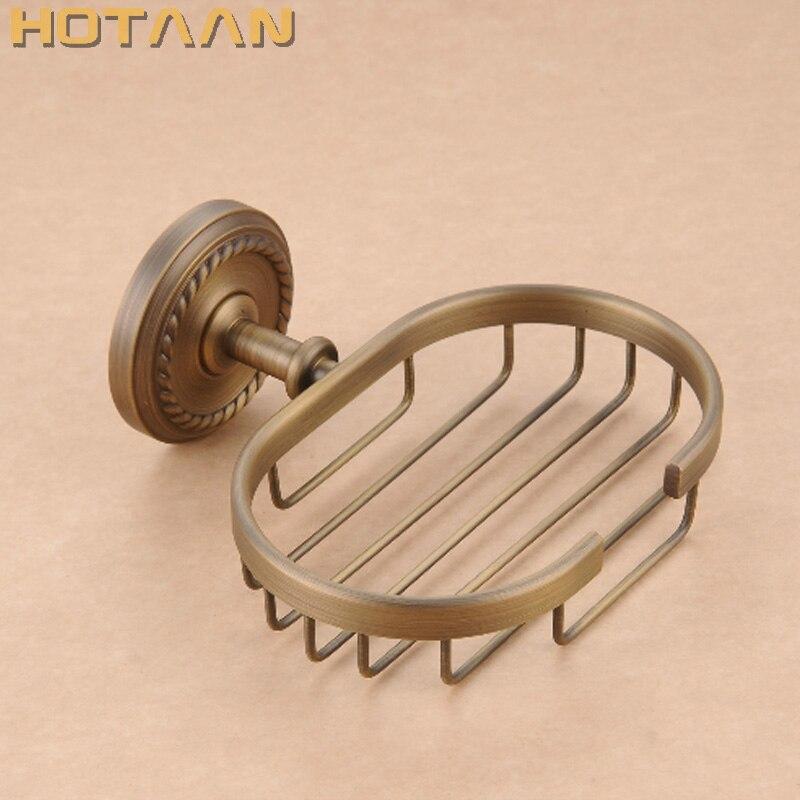 цена на Free shipping Fashion antique brass soap holder,Pure copper bathroom soap basket bathroom accessories YT-12290