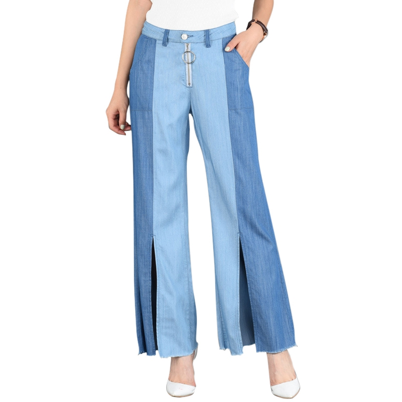 Comfortable Casual Wide Leg Jeans Women Loose Pants Denim Pants Female New Fashion Boyfriend Jeans for Women new boyfriend jeans for women denim pants ladies loose fit high waist casual jeans fall fashion style drak blue wide leg pants