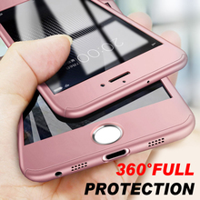 Luxury 360 Protective Phone Case For iPhone 7 6 6S 8 Plus 5S 5 SE X XS MAX XR Full Hard PC Cover Tempered Glass coque wholesale