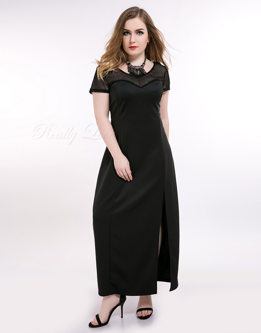 Online Buy Wholesale semi formal black dress plus size from China ...