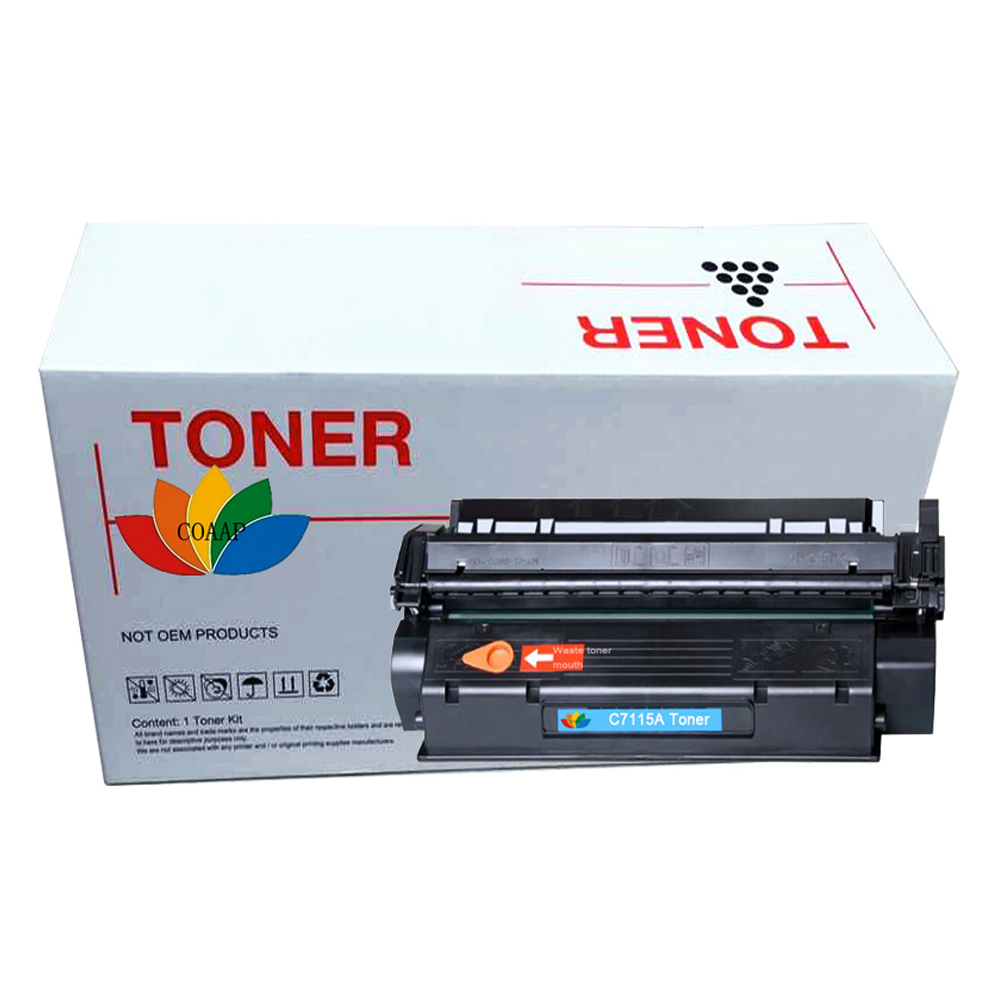 1 PK C7115A Toner Cartridge for Compatible HP 15A Laserjet 1000 1200 3300 3330 3380MFP, CANON LBP1210 printers