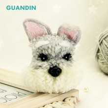 GUANDIN,Schnauzer Dog Dog Hair Ball Wool Felt Animal Yarn Handmade DIY New Material Package Cartoon Series 1Piece/Pack(China)