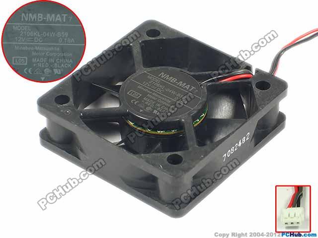 NMB-MAT 2106KL-04W-B59, L05 DC 12V 0.18A  3-pin   50x50x15mm Server Square  Fan нaклaдкa нa щиток приборов 2106
