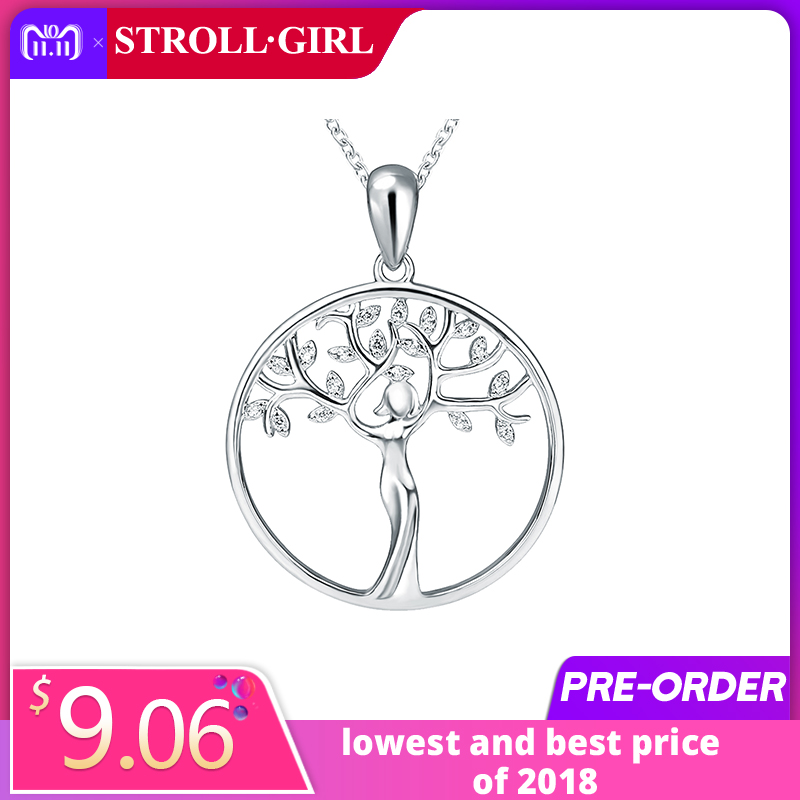 New arrival 925 Sterling Silver Pendant Necklace Fashion Jewelry Women goddess Life of Tree Necklaces&Pendants For Women Gifts chic life tree heart necklace for women
