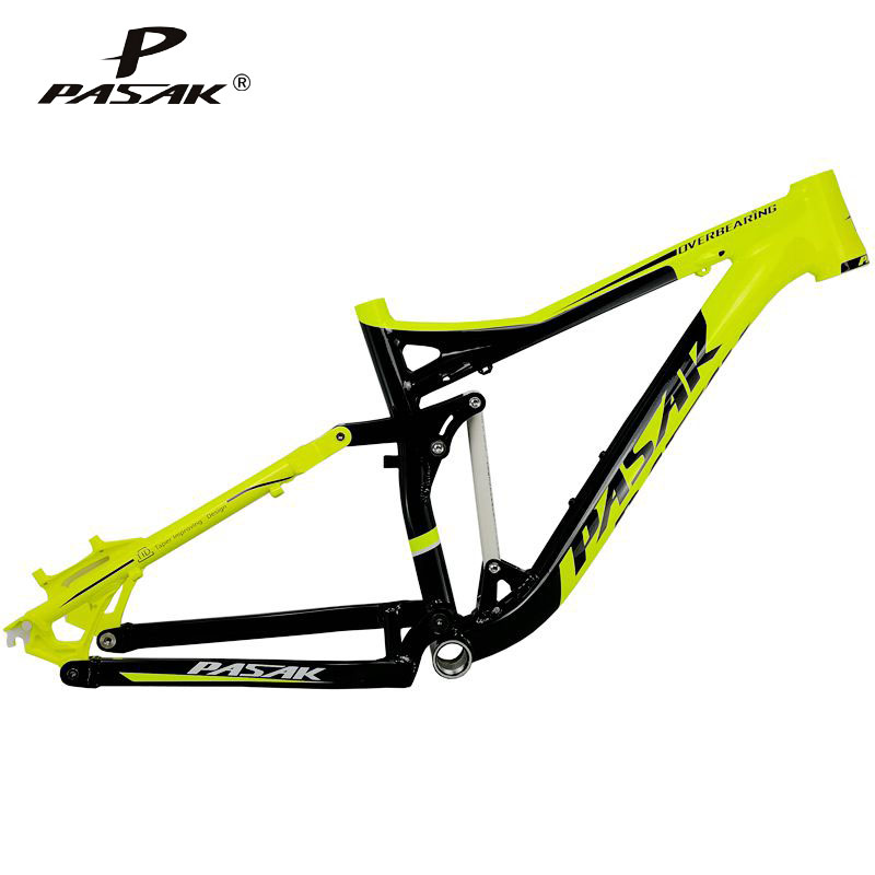 Pasak Full Suspension Aluminium Frame Alloy MTB Mountain DH AM Cycling Bicycle Frame 26er 27.5er*17inch Downhill Bicycle Part