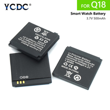1/2/4pcs Top Quality for Smart Watch Battery Q18 3.7V 500mAh lithium Rechargeabl