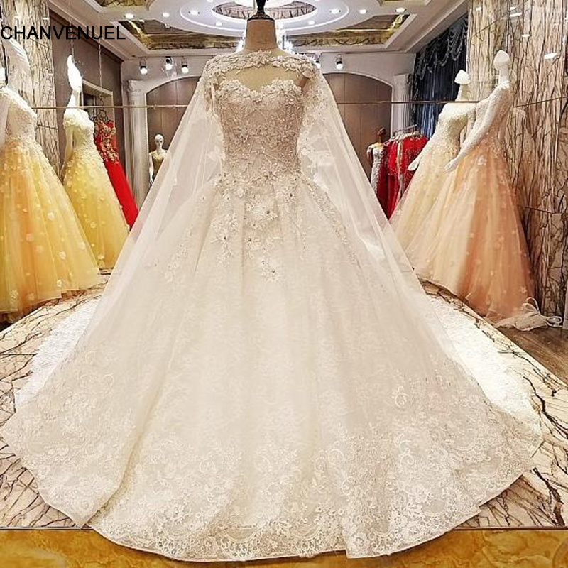Ls7051 Wedding Dresses Germany Beading Ball Gown Lace Up Back O Neck