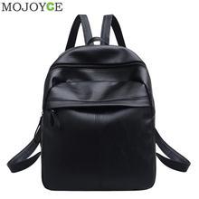 Women PU Leather Backpack Fashion Student School Shoulder Bag Black Travel Backpacks For Teenage Girls Women Daypack Mochilas