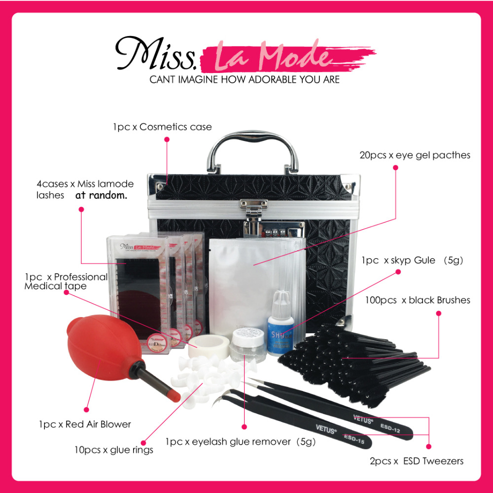 Free shipping Eyelash Extension Multifunctional Tools Kit with Necessary Quality Eyelash ...