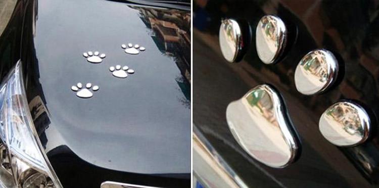 1 PCS New Cute Feet Car Sticker 3D Bear Paw Pet Animal Footprints Car Sticker Truck Decor Decal Accessories 5