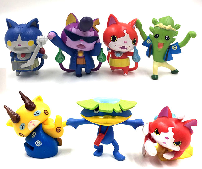 7pcslot 5-6cm original Japanese anime figure random send Yo-Kai Watch action figure set collectible model toys for boys