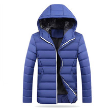 Winter Men Jacket 2017 Brand Casual New Solid Color Simple Mens Jacket And Coats Thick Parka Men Hooded Outwear M-4XL