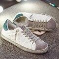 Moda Famosa Marca de Lujo de Zapatos Para Hombre Zapatos Casuales de Cuero Genuino Hombres Mujeres Oro Sucio Homme Zapatos Respirables Bajos