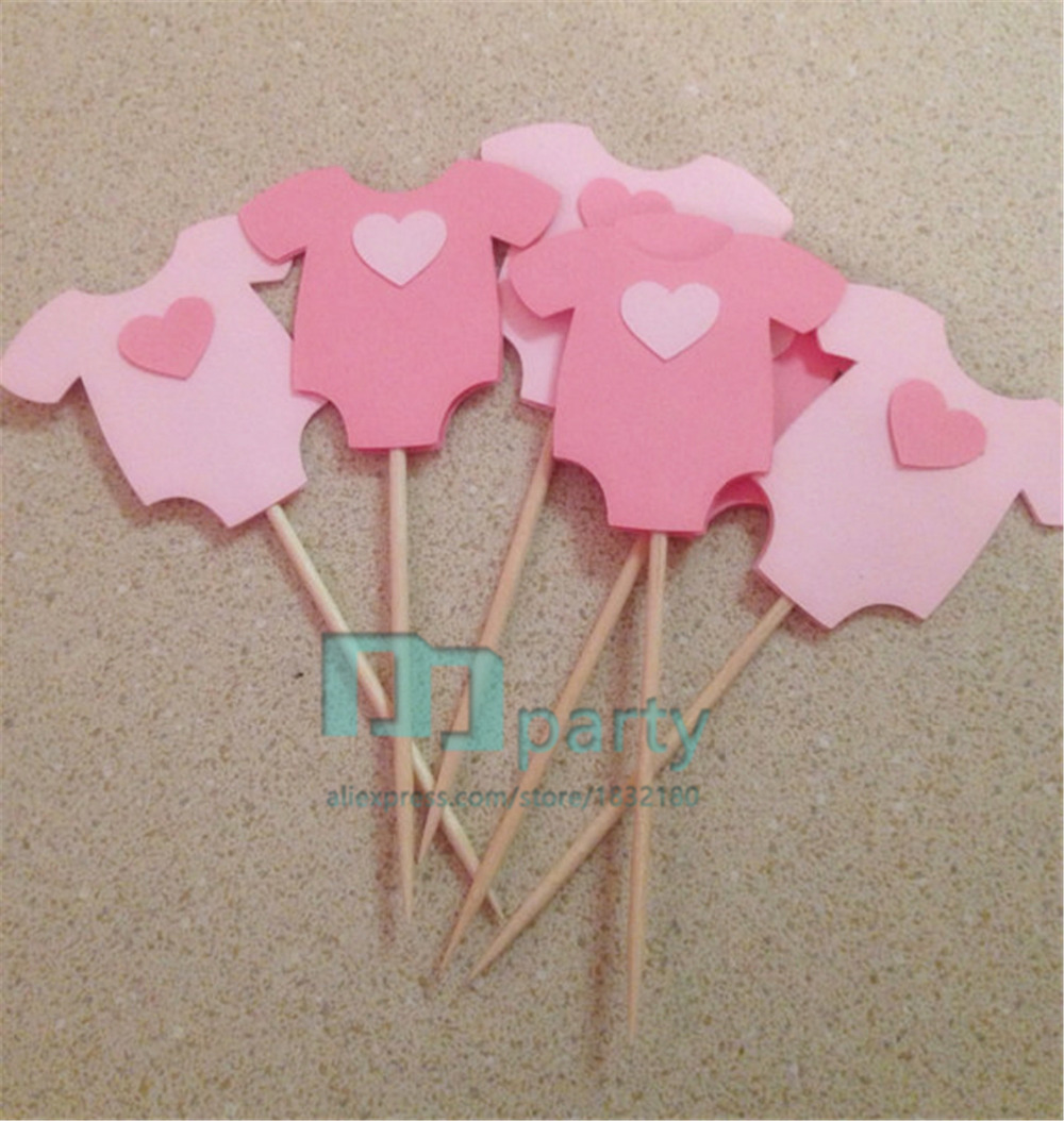 Handmade Lovely Pink Baby Clothes Cupcake Topper,baby