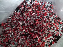 Red Black Silver 100g Paille Ultrathin Sequins Mixed Nail Art ROUND Shapes Confetti Acrylic Round Glitter 10