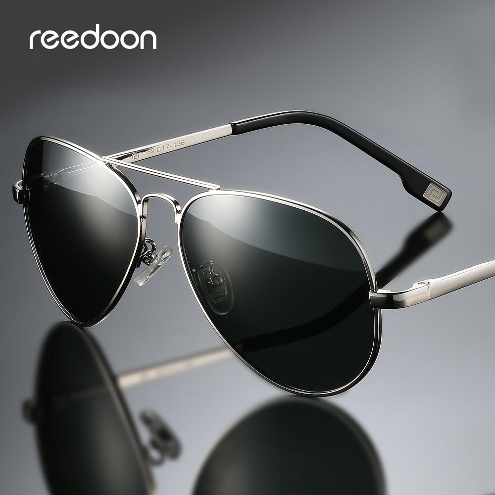 Reedoon Polarized Sunglasses HD Lens UV400 Metal Frame Retro Driving Eyewear For Men Women Fishing Climbing 4025