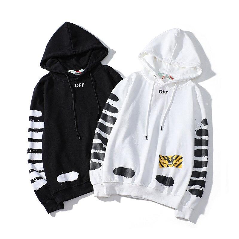 b62471684376 Off white hoodie brand graffiti patch fashion trend hoodie-in ...