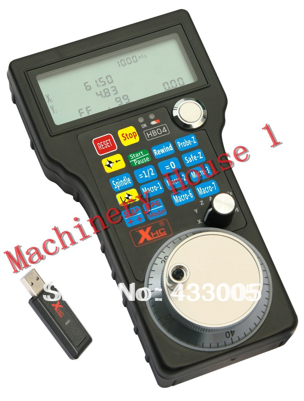Mach3 2.4G 40M Control 98DB Wireless Mach3 MPG Pendant Handlewheel For Mach 3, 4 Axis CNC CNC Router cnc router engraving on granite mach 3 control system