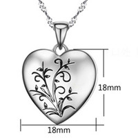 925 Silver Necklace Pure Silver Shaped Lovers Pendant Of Love Photo Box Chain Birthday Accessories Lettering
