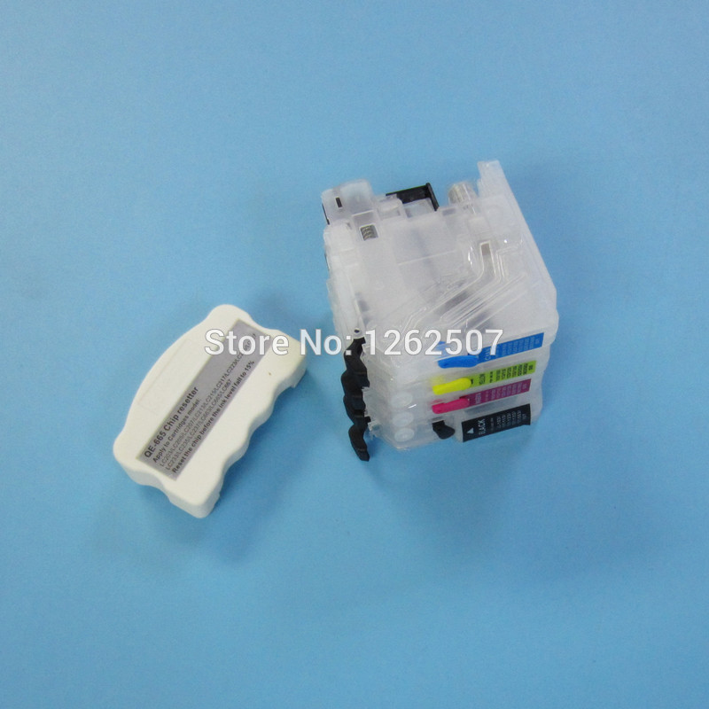 Refillable cartridge + Chip Resetter For Brother LC223 LC203 LC213 LC233 Empty cartridge For Brother MFC-J4420DW MFC-J5320DW yotat 4pcs refillable ink cartridge lc223 for brother dcp 4120dw mfc j4420dw mfc j4620dw mfc j4625dw mfc j480dw mfc j680dw