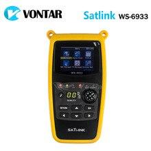 [Véritable] Satlink WS-6933 DVB-S2 FTA C & KU Bande Satellite Finder Compteur satlink 6933 WS6933 avec 2.1 Pouce LCD Affichage