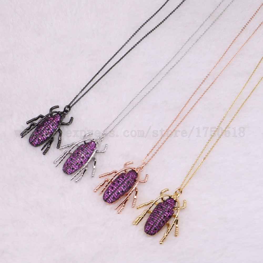 5 strands big bugs necklace Insects bee pest pendants necklace small size jewelry 18 mix color necklace pets beads 3053