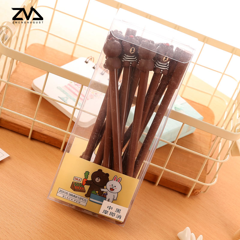 2x kawaii Cute little bear pen students learning office special School stationery supplies Creative children 39 s gift pens in Gel Pens from Office amp School Supplies