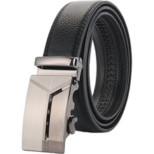 Mens belt geometric pattern business high-end long PU two-layer leather / fashion versatile work multi-color