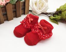 New Beauty Children #8217 s Lace Baby Dress Socks Princess Hundred Days Baby Socks cheap skyyue