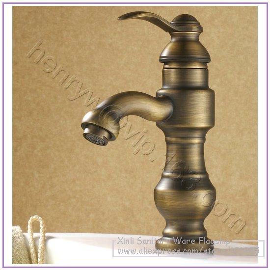L16596-Роскошные бортике Латунь Материал Горячая и холодная вода смеситель для раковины - Цвет: Шоколад