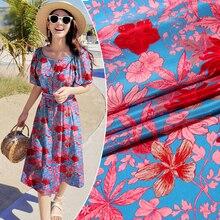 140cm new inkjet silk crepe de chine fabric12mm floral T-shi