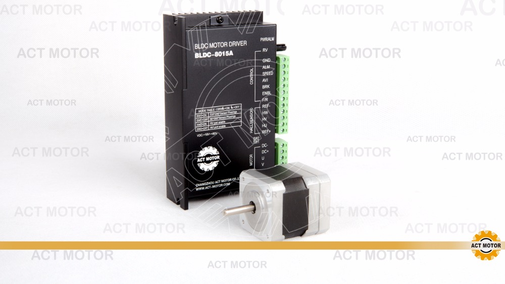 nema17  42BLF02 brushless DC motor 3phase, 4000RPM, 52W, 24VDC with driver 8015A stels blf h6 24 28