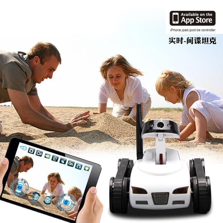 Mini télécommande jouets Wifi Robot caméra RC réservoir APP en temps réel contrôlé IOS IPHONE dispositif intelligent pour enfants cadeaux Kis