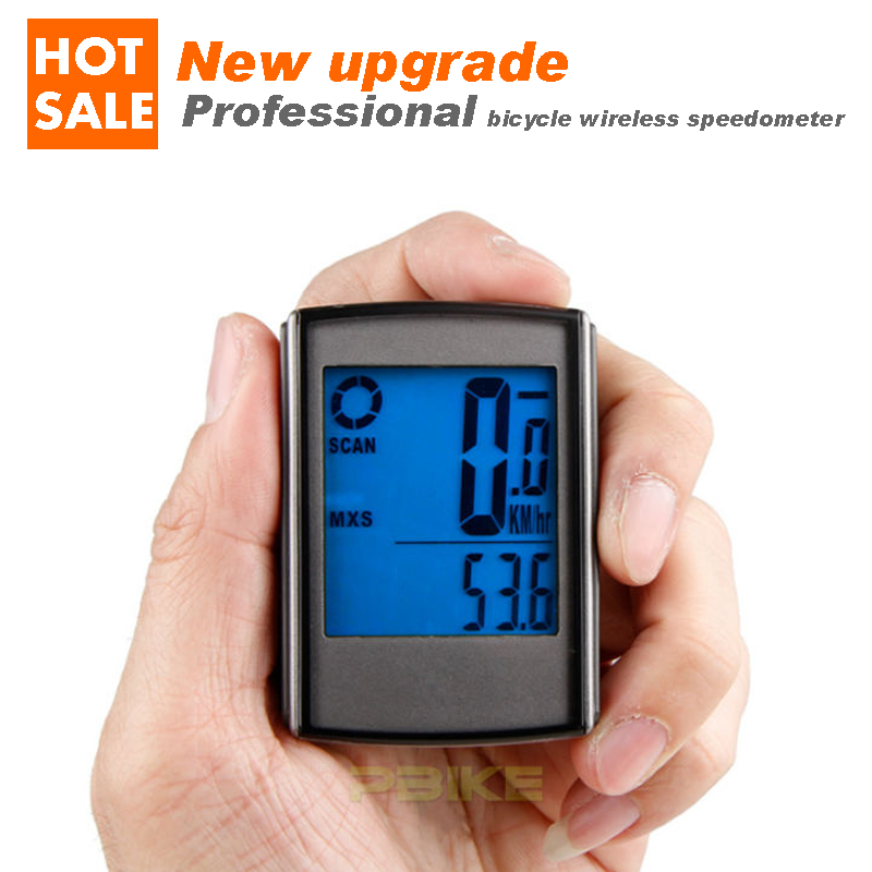 2016 New Free Shipping Professional Bike Bicycle Cycling Wireless Lcd Backlight Computer Odometer Speedometer Velometer