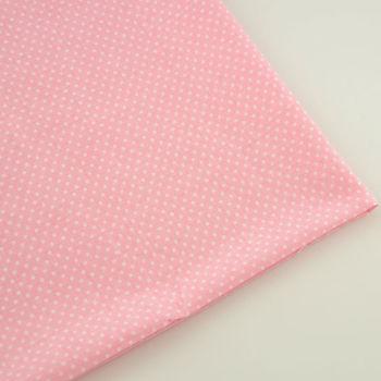 Mini w białe kropki styl nowości 100% bawełna tkanina Fat Quarter kolor jasnoróżowy tekstylne lalki tkaniny dla początkujących praktyki